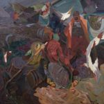Azov knights, canvas, oil. Size: 200x200. Year: 2011.