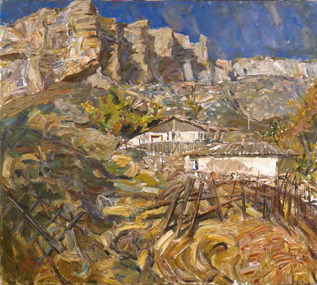 In the gorges. Canvas, oil.  Size: 80х100. Year: 1990